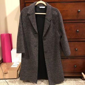 MANGO brown Pea Coat